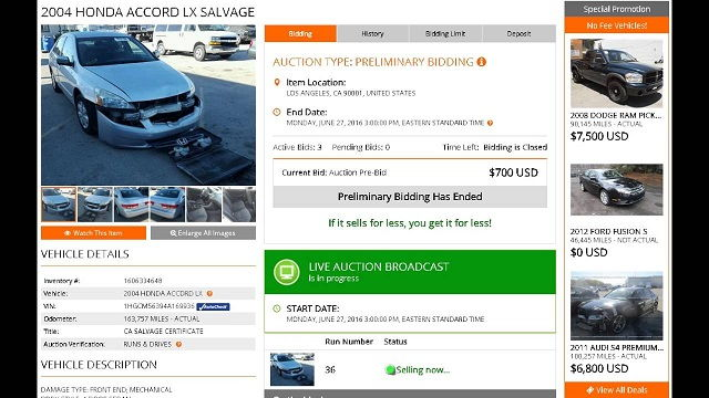Salvage Truck Auctions Online