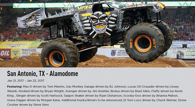 Monster Truck Tickets 2017
